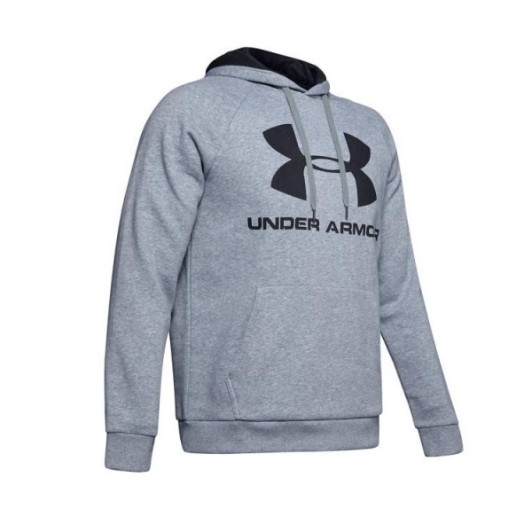 Mikina UNDER ARMOUR RIVAL FLEECE LOGO šedá