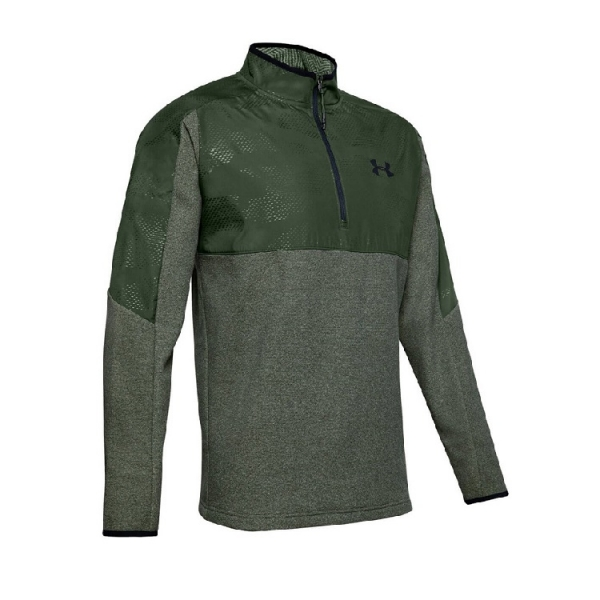 Mikina UNDER ARMOUR CGI 1/2 zip khaki