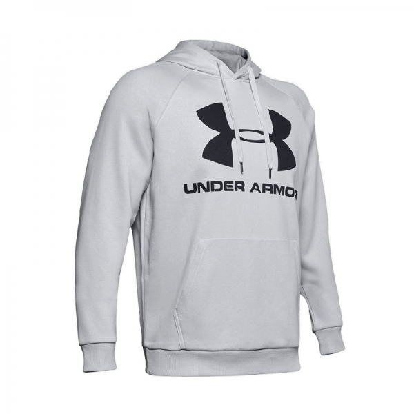 Mikina UNDER ARMOUR RIVAL FLEECE SPORTSTYLE LOGO HOODIE-GRY