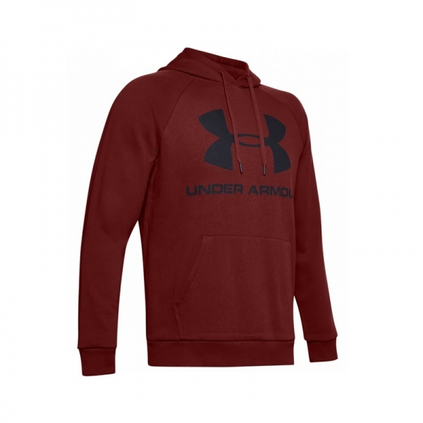 Mikina UNDER ARMOUR RIVAL FLEECE SPORTSTYLE LOGO vínová